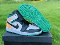 Authentic Air Jordan 1 Mid SE White/Green