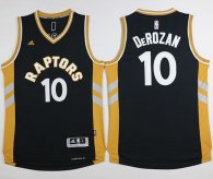 Toronto Raptors -10 DeMar DeRozan Black Gold Stitched NBA Jersey