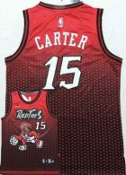 Toronto Raptors -15 Vince Carter Red Resonate Fashion Stitched NBA Jersey