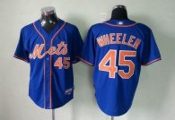 New York Mets -45 Zack Wheeler Blue Cool Base Stitched MLB Jersey