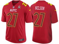 2017 PRO BOWL AFC REGGIE NELSON RED GAME JERSEY