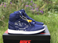 "Authentic Air Jordan 1 High OG ""Nike Air""  Obsidian"
