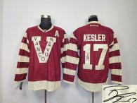 Autographed Vancouver Canucks -17 Ryan Kesler Red Stitched NHL Jersey