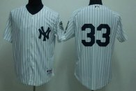 New York Yankees -33 Kelly Johnson White Stitched MLB Jersey