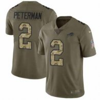 Nike Bills -2 Nathan Peterman Olive Camo Stitched NFL Limited 2017 Salute To Service Jersey