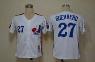Mitchell And Ness Expos -27 Vladimir Guerrero White Throwback Stitched MLB Jersey