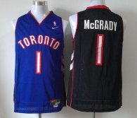 Toronto Raptors -1 Tracy Mcgrady Black Purple Nike Throwback Stitched NBA Jersey
