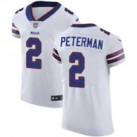 Nike Bills -2 Nathan Peterman White Stitched NFL Vapor Untouchable Elite Jersey
