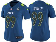 WOMEN'S NFC 2017 PRO BOWL LOS ANGELES RAMS #99 AARON DONALD BLUE GAME JERSEY