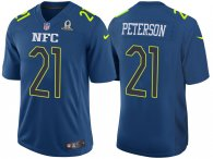 2017 PRO BOWL NFC PATRICK PETERSON BLUE GAME JERSEY