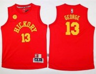 Indiana Pacers #13 Paul George Red Hardwood Classics Performance Youth Stitched NBA Jersey