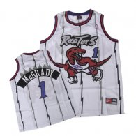 Toronto Raptors -1 Tracy McGrady White Swingman Stitched NBA Jersey