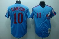 Mitchell and Ness Expos -10 Andre Dawson Stitched Blue Throwback MLB Jersey