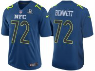 2017 PRO BOWL NFC MICHAEL BENNETT BLUE GAME JERSEY