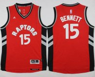 Toronto Raptors -15 Anthony Bennett Red Stitched NBA Jersey
