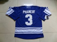 Toronto Maple Leafs -3 Dion Phaneuf Blue Third Stitched NHL Jersey
