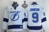 Tampa Bay Lightning -9 Tyler Johnson White 2015 Stanley Cup Stitched NHL Jersey