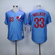 Expos -33 Larry Walker Blue Stitched MLB Jersey