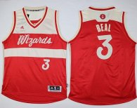 Washington Wizards -3 Bradley Beal Red 2015-2016 Christmas Day Stitched NBA Jersey