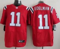 Nike New England Patriots -11 Julian Edelman Red Alternate Mens Stitched NFL Elite Jersey