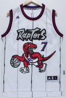 Toronto Raptors -7 Kyle Lowry White Throwback Stitched NBA Jersey