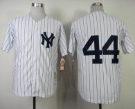 Mitchell And Ness 1977 New York Yankees -44 Reggie Jackson White Throwback Stitched MLB Jersey