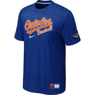 Baltimore Orioles Blue Nike Short Sleeve Practice T-Shirt