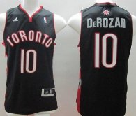 Revolution 30 Toronto Raptors -10 DeMar DeRozan Black Stitched NBA Jersey
