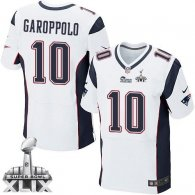 Nike New England Patriots -10 Jimmy Garoppolo White Super Bowl XLIX Mens Stitched NFL Elite Jersey