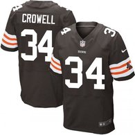 Nike Cleveland Browns -34 Isaiah Crowell Brown Team Color Men's Stitched NFL Elite Jersey
