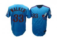 Mitchell and Ness Expos -33 Larry Walker Blue Stitched Throwback MLB Jersey