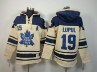 Toronto Maple Leafs -19 Joffrey Lupul Cream Sawyer Hooded Sweatshirt Stitched NHL Jersey