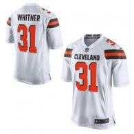 Nike Cleveland Browns -31 Donte Whitner White Men's Stitched NFL New Elite Jersey