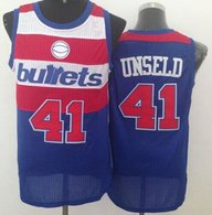 Washington Wizards -41 Wes Unseld Blue Bullets Throwback Stitched NBA Jersey