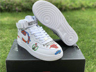 Authentic Supreme x NBA x Nike Air Force 1 Mid White