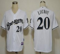 Milwaukee Brewers -20 Jonathan Lucroy White Cool Base Stitched MLB Jersey