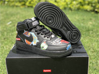 Authentic Supreme x NBA x Nike Air Force 1 Mid Black