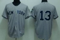 New York Yankees -13 Alex Rodriguez Stitched Grey MLB Jersey