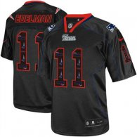Nike New England Patriots -11 Julian Edelman New Lights Out Black Mens Stitched NFL Elite Jersey