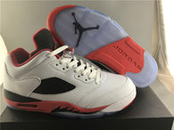 "Super Max Perfect Air Jordan 5 Low ""Fire Red"" (3M Reflective)"