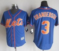 New York Mets -3 Curtis Granderson Blue Alternate Home New Cool Base Stitched MLB Jersey
