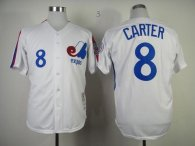 Mitchell And Ness 1982 Expos -8 Gary Carter White Throwback Stitched MLB Jersey