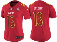 WOMEN'S AFC 2017 PRO BOWL INDIANAPOLIS COLTS #13 TY HILTON RED GAME JERSEY