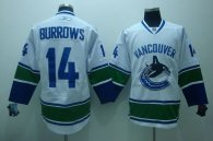 Vancouver Canucks -14 Alexandre Burrows Stitched White NHL Jersey