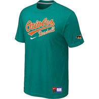 Baltimore Orioles Green Nike Short Sleeve Practice T-Shirt