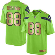 Nike Seahawks -88 Jimmy Graham Green Stitched NFL Limited Gold Rush Jersey