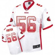 Nike 49ers -56 Reuben Foster White Stitched NFL Elite Drift Fashion Jersey