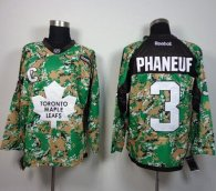 Toronto Maple Leafs -3 Dion Phaneuf Camo Veterans Day Practice Stitched NHL Jersey