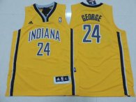 Indiana Pacers #24 Paul George Yellow Youth Stitched NBA Jersey