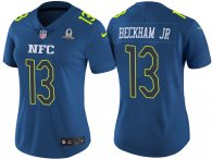 WOMEN'S NFC 2017 PRO BOWL NEW YORK GIANTS #13 ODELL BECKHAM JR BLUE GAME JERSEY